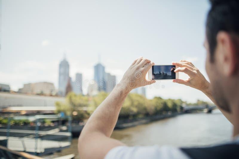 Ta ett foto av Australien Cityscape royaltyfri fotografi