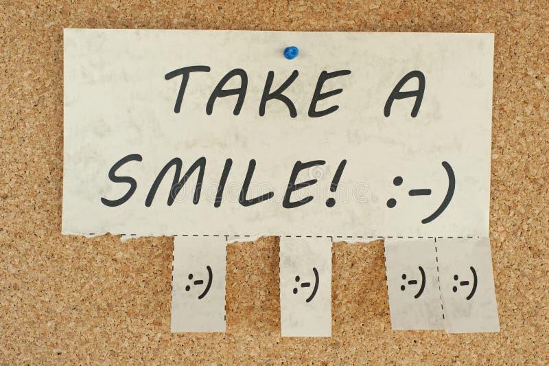 Ta ett leende royaltyfri fotografi
