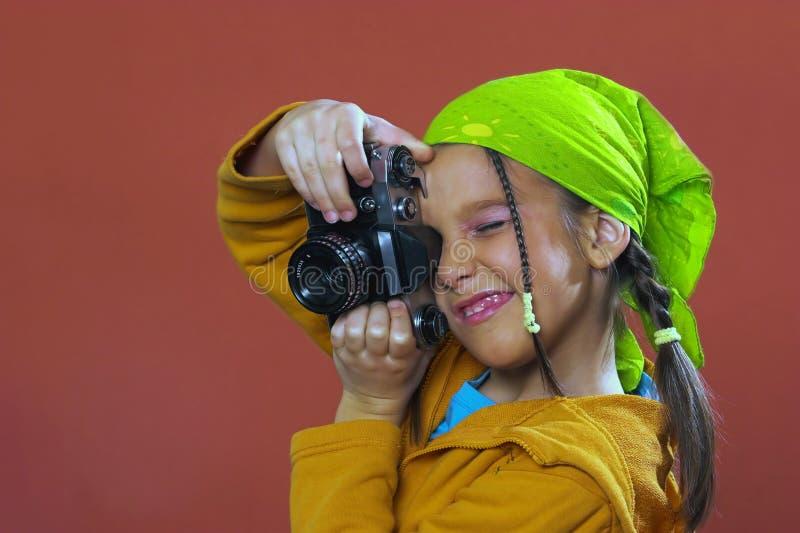 ta för flickafoto arkivbilder