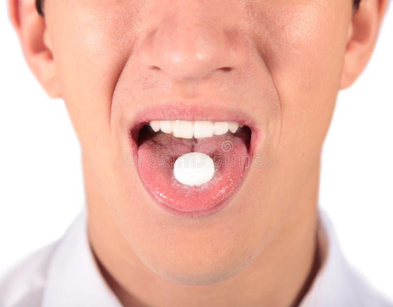 ta för pills royaltyfri bild