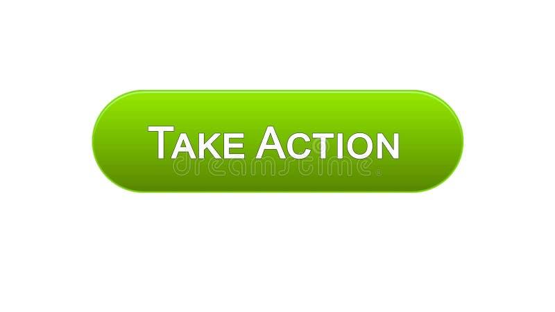 Ta knappen för handlingrengöringsdukmanöverenheten grön färg, designen för internetplatsen, ledarskap stock illustrationer