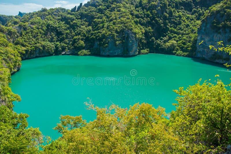 Ta Le Nai Lagoon in Mae Koh Island, AngThong Nationale Marine Park royalty-vrije stock foto's