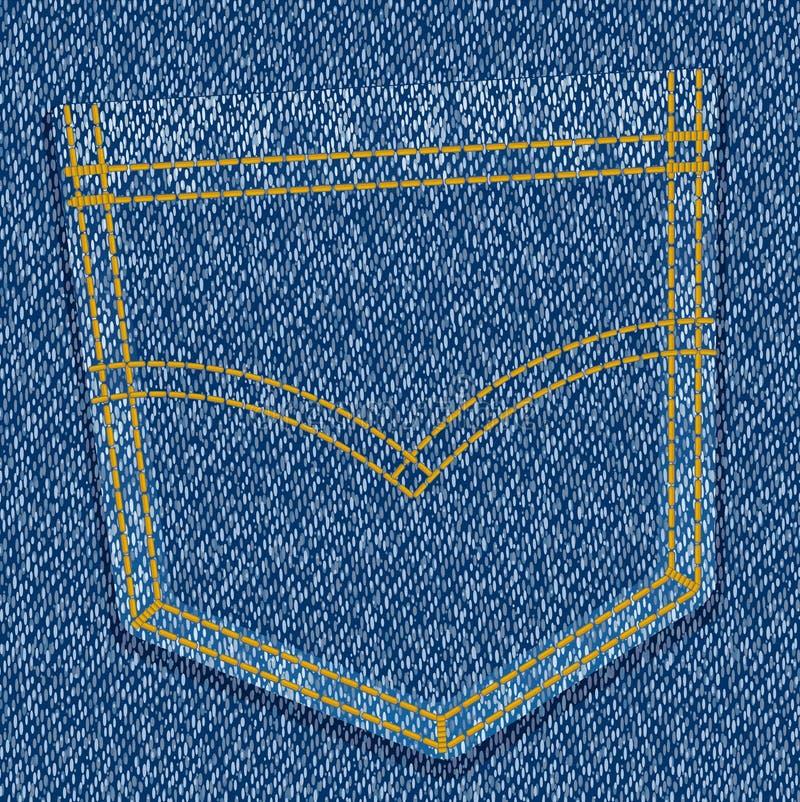 ta marka jeansów kieszeń ilustracji