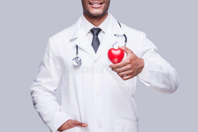 Ta omsorg av din hjärta arkivbilder