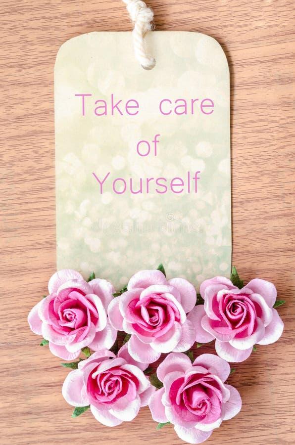 Ta omsorg av din själv royaltyfria foton