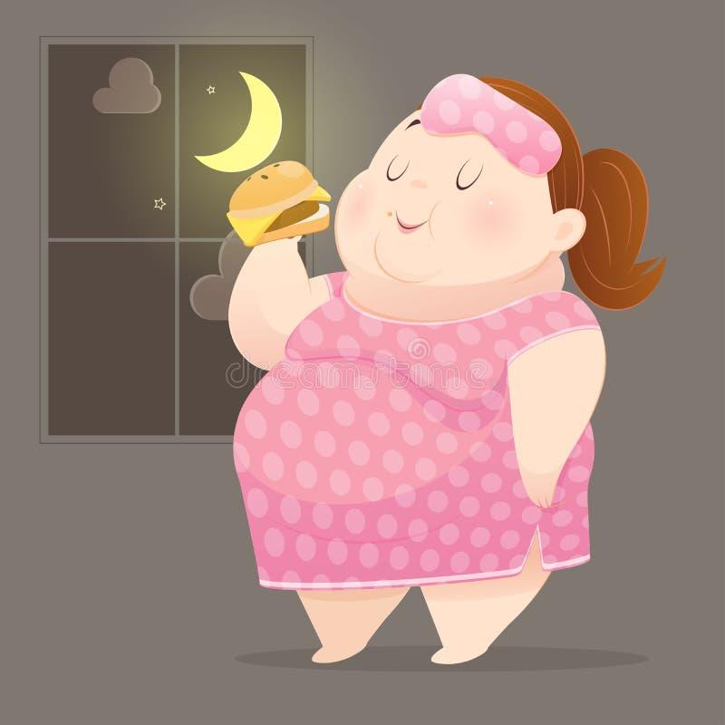 ?ta p? natten vektor illustrationer