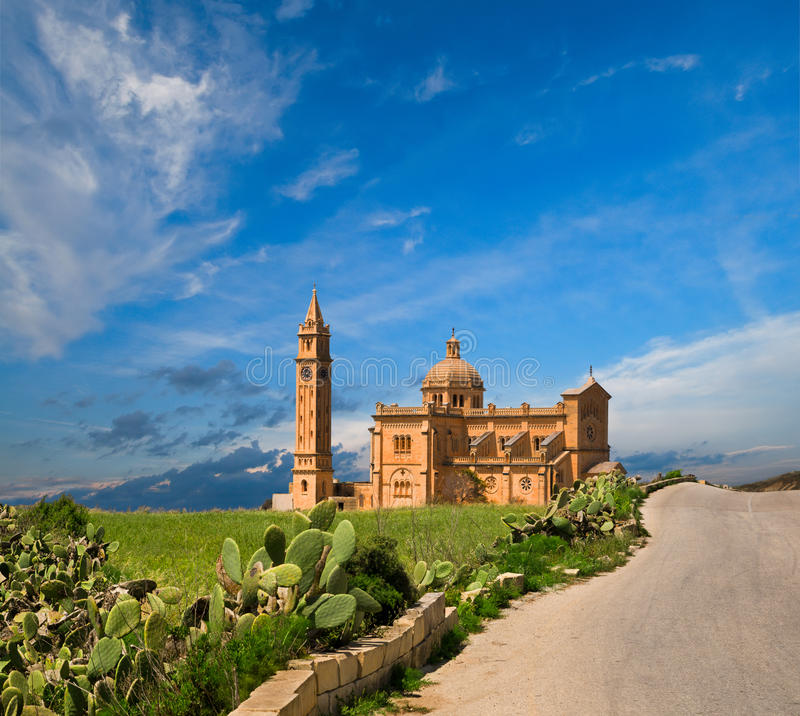 Free Ta  Pinu Church, Gharb Village, Gozo, Malta Stock Images - 21455104