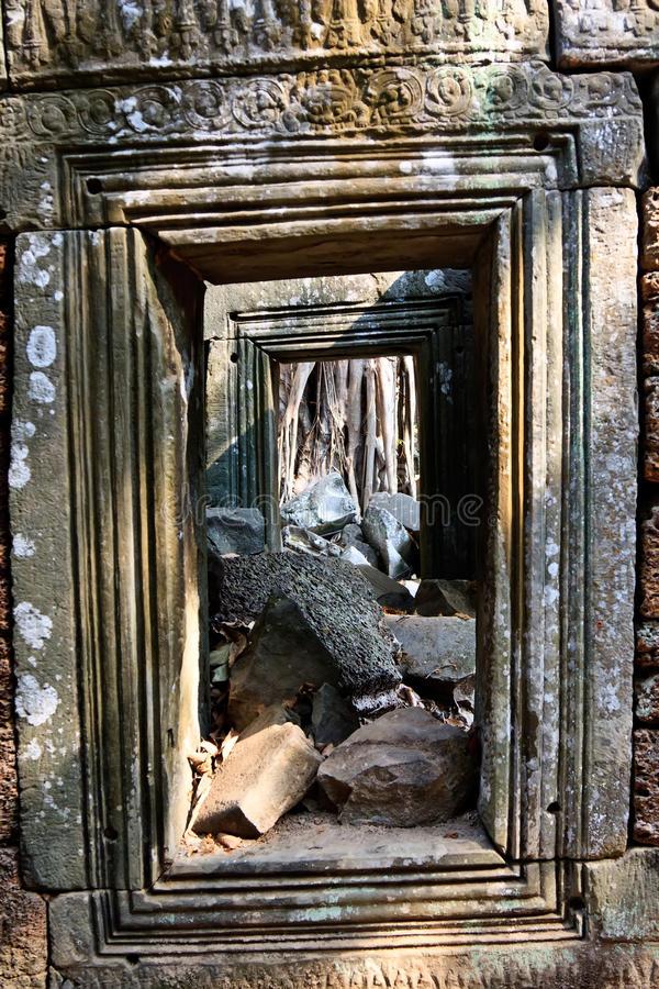 Download Ta Prohm stock photo. Image of window, door, archeology - 24422010