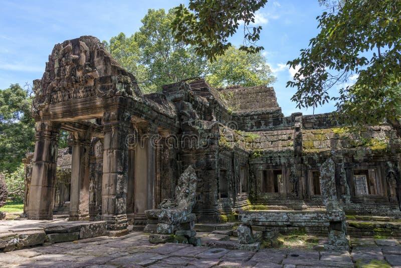 Ta Prohm, Angkor Wat, Kambodja royalty-vrije stock afbeelding