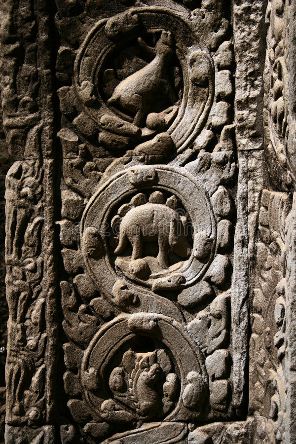 Ta Prohm temple,Angkor royalty free stock images