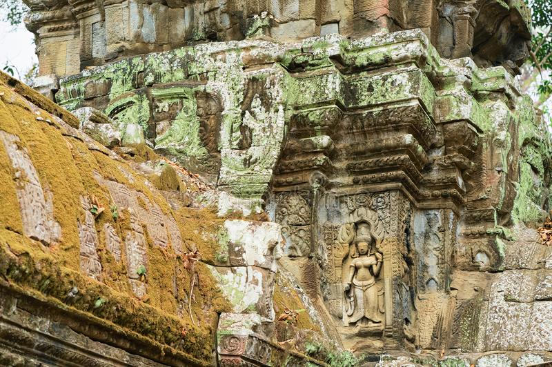 Ta Prohm temple complex in Siem Reap Cambodia. Ta Prohm temple complex, in Siem Reap, in Cambodia stock photos