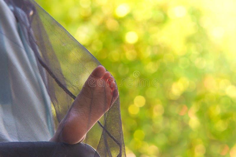 Ta sig en tupplur utomhus- royaltyfri bild