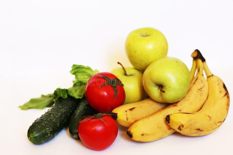 ?ta som ?r sunt banta medelhavs- Frukt gr?nsaker Organisk strikt vegetarian royaltyfri fotografi