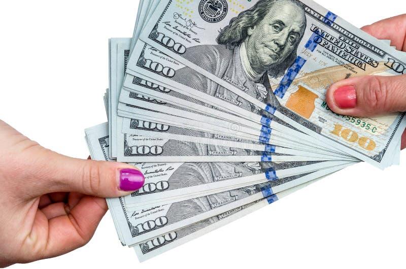 Ta ut dollarsedeln från högen arkivbild