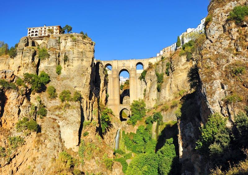 Taag DE Ronda, Nieuwe Brug, de provincie van Malaga, Andalusia, Spanje royalty-vrije stock afbeeldingen