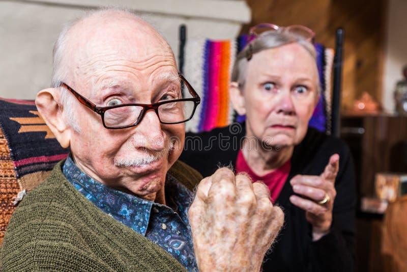 Taai Bejaard Paar stock foto