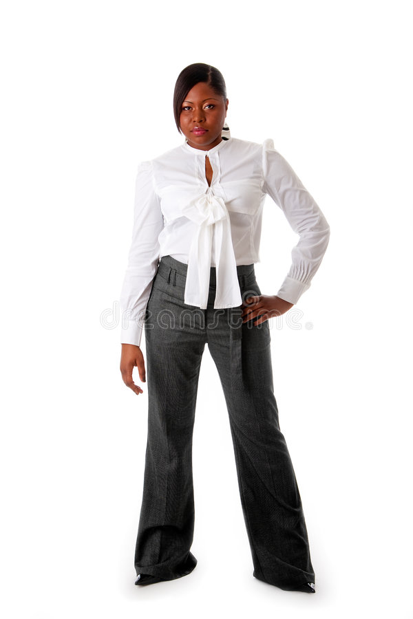 Taaie Afrikaanse bedrijfsvrouw royalty-vrije stock afbeelding