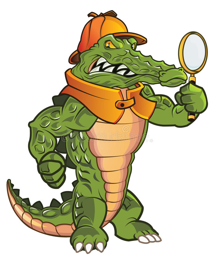 Taaie Gator royalty-vrije illustratie