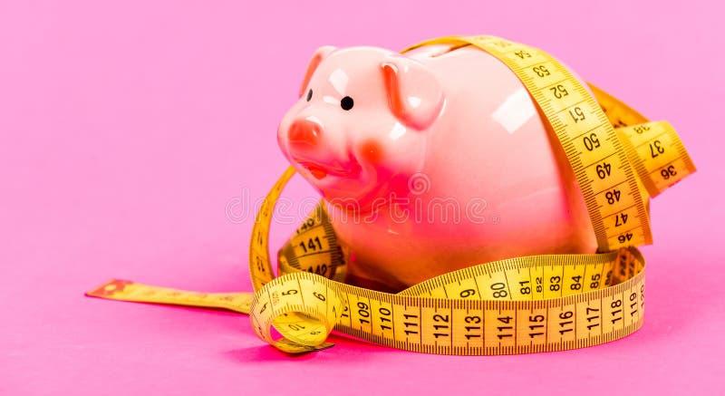 Taaie situatie Leningsconcept Neem Krediet Economie en begrotingsverhoging gelddieet Financi?n en handel laag betaal stock afbeelding