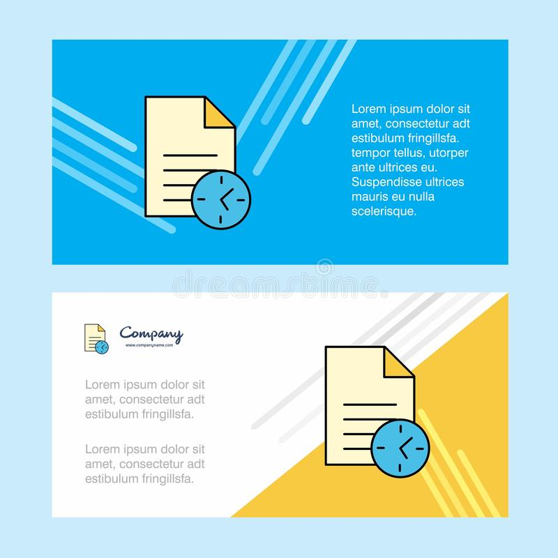 Taak op tijd abstract collectief bedrijfsbannermalplaatje, horizontale reclame bedrijfsbanner vector illustratie