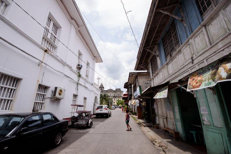 Taal,八打雁省,菲律宾历史的街道  免版税库存图片