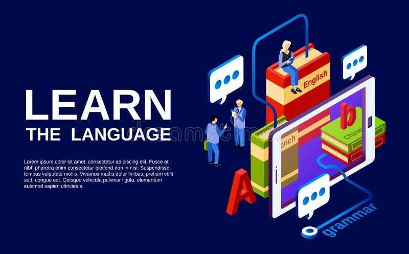 Taal het leren affiche vectorillustratie vector illustratie