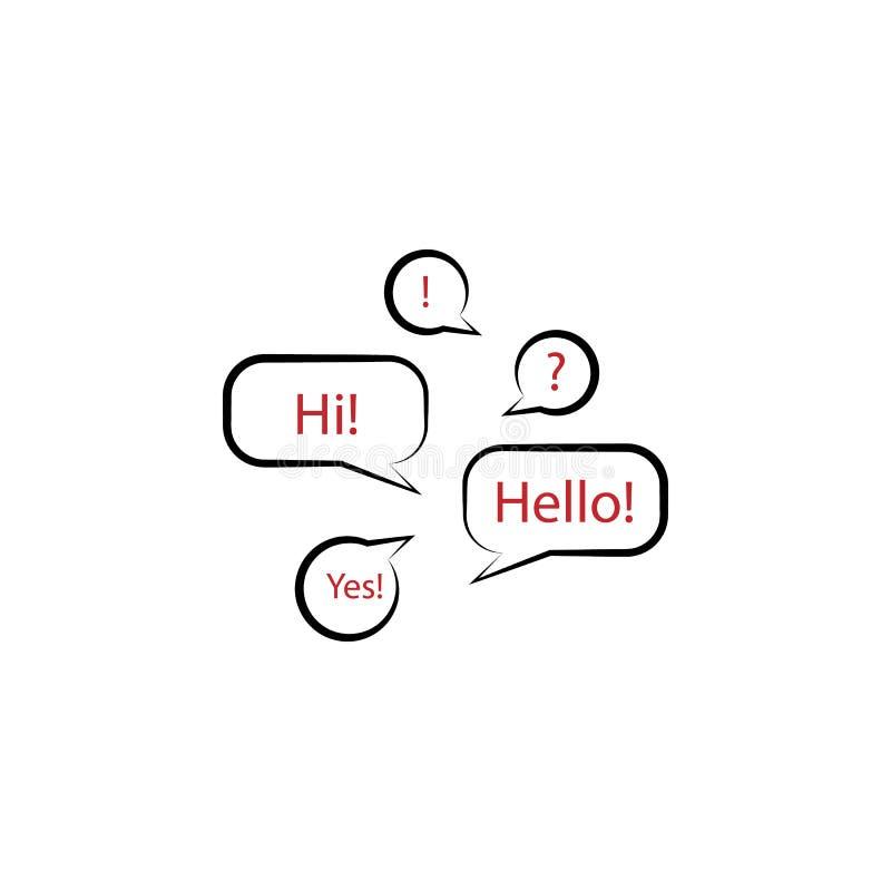 taal het leren 2 rassenbarrièrepictogram Eenvoudige kleurenelementillustratie taal het leren overzichtsknopontwerp van edecutaio royalty-vrije illustratie