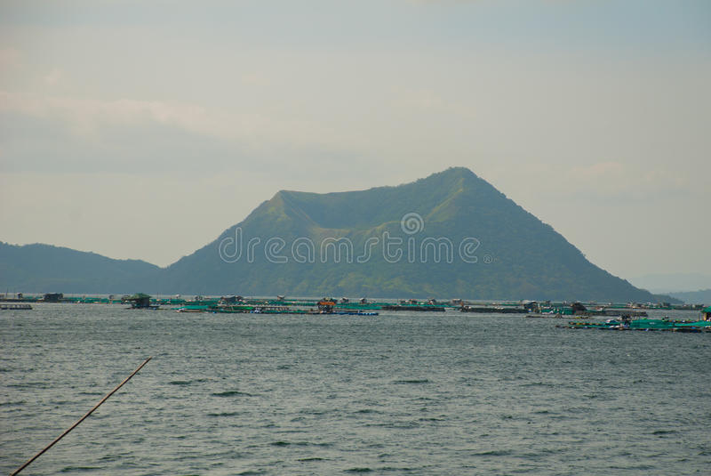 Taal-Vulkan auf Luzon-Insel nördlich von Manila, Philippinen stockbild