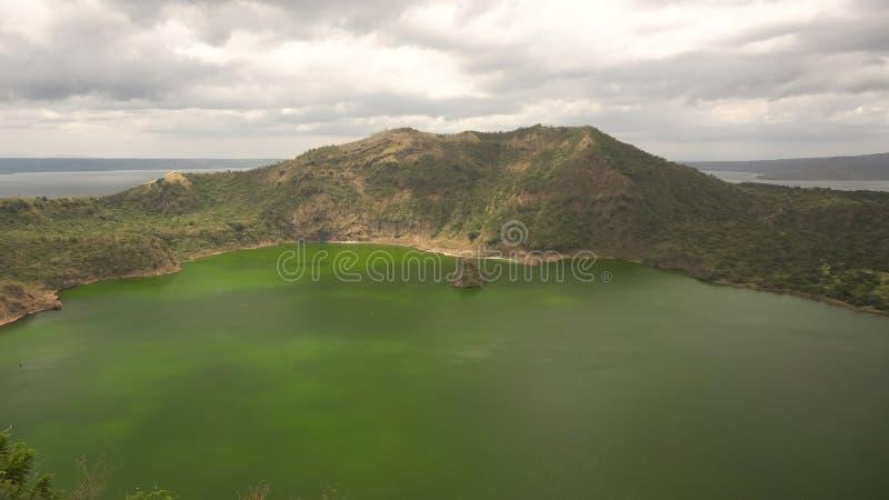 Taal vulkan, Tagaytay, Filippinerna arkivfoto