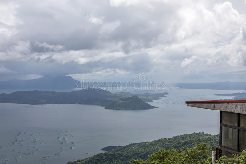 Taal-Vulkan in Tagaytay, Philippinen stockfoto