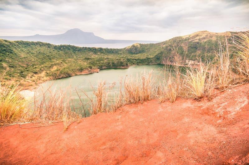 Taalvulkaan - Filippijnen royalty-vrije stock foto's