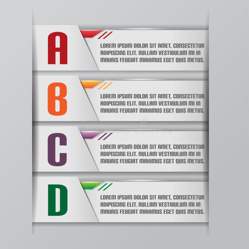 Tab Graphic Modern Template Style vektor royaltyfri illustrationer