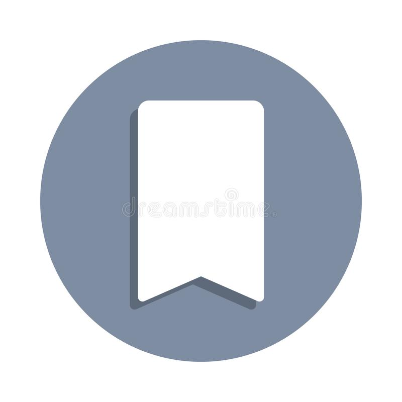 Tab icon in badge style. One of web collection icon can be used for UI, UX. On white background stock illustration