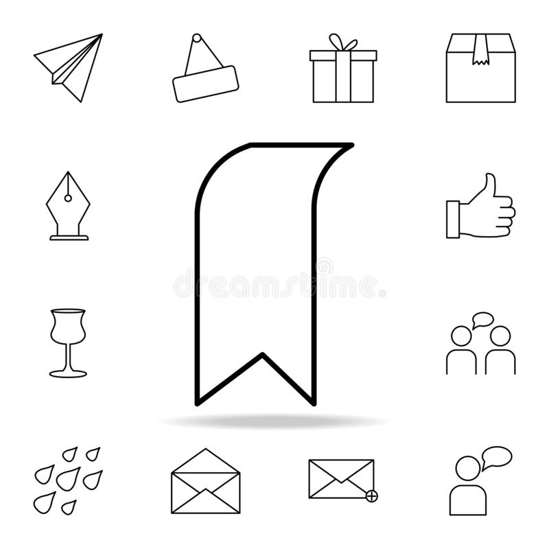 Tab icon. Detailed set of simple icons. Premium graphic design. One of the collection icons for websites, web design, mobile app. On white background stock illustration
