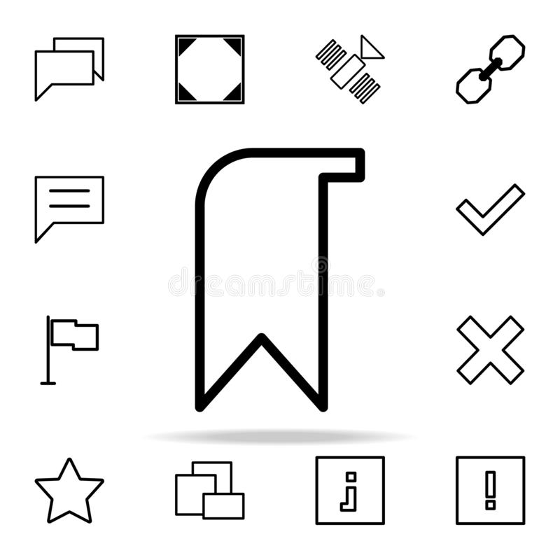 tab icon. web icons universal set for web and mobile stock illustration