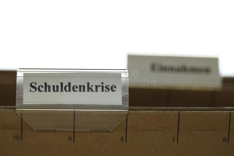 Download Tab with schuldenkrise stock image. Image of lined, information - 36690949