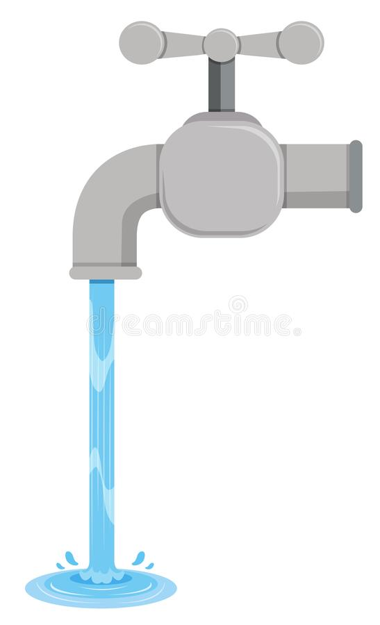 Tab Water Coming Out From Tab Stock Vector - Illustration of faucet ...