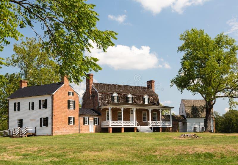 Tabaco de piedra Maryland del acceso de la casa de Thomas imagen de archivo libre de regalías