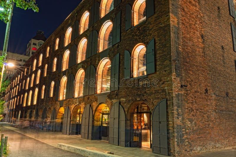 Tabaco Warehouse, parque del puente de Brooklyn fotografía de archivo libre de regalías