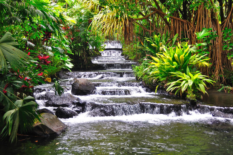 Tabacon Hot Springs, Costa Rica Royalty Free Stock Images