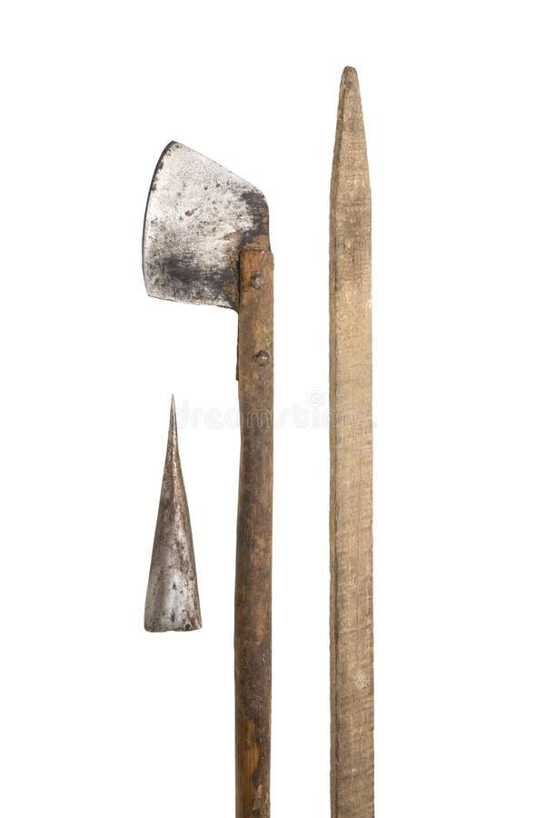 Tabaczny nóż, dzida & kij, zdjęcie stock