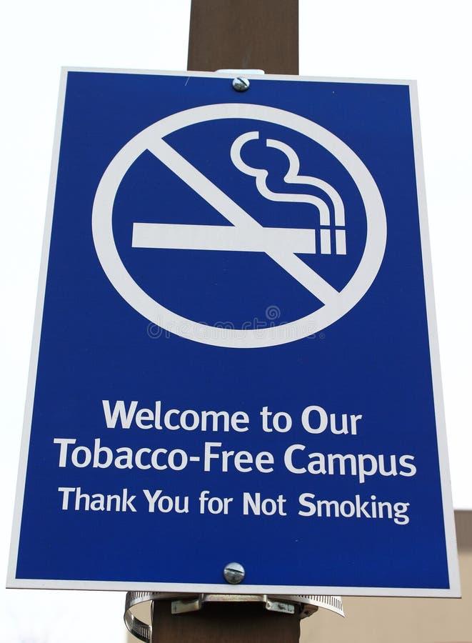 Tabak-vrij Teken stock afbeelding