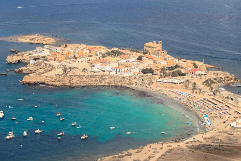 Tabarca island in alicante spain stock image image of airview ecosystem 61976515 - Stock uno alicante ...