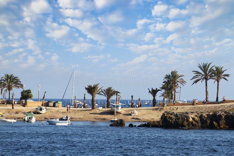 Tabarca island in Spain. Beach and coast of Tabarca island stock images