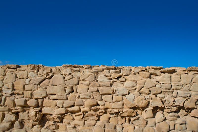 Tabarca wyspy battlement fortu kamieniarstwa ściany szczegół obrazy stock