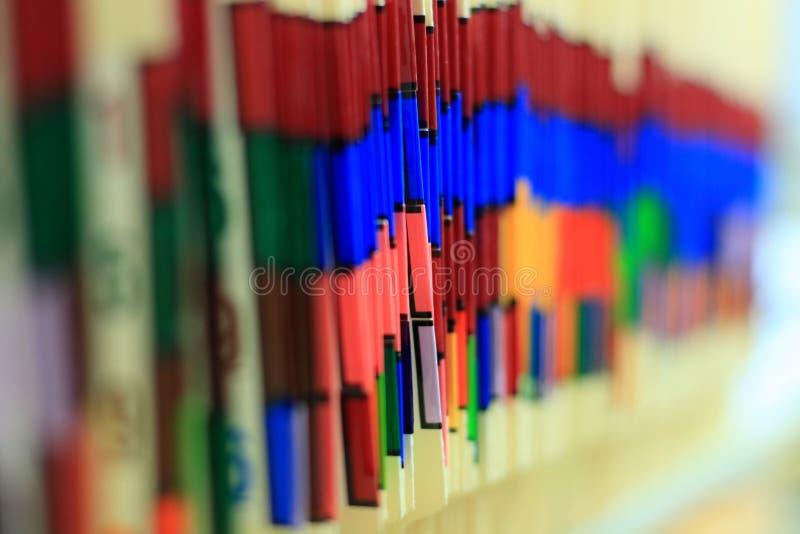 tabbed färgläkarundersökningregister royaltyfri foto