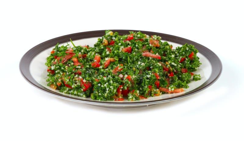 tabbouleh oriental de milieu de nourriture photographie stock libre de droits