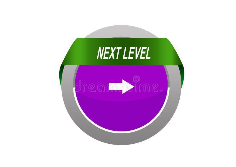 Tabe redondo do círculo com o botão nivelado seguinte da Web da marca da seta ilustração do vetor