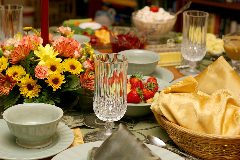 Tabela 9081 da refeição do feriado fotografia de stock royalty free