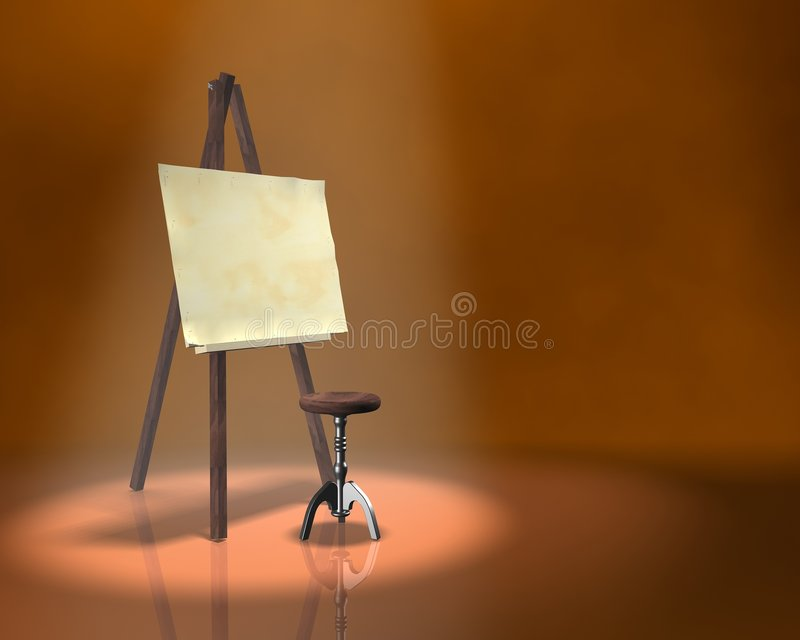 tabela artysty obraz royalty free